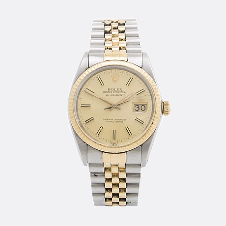 Rolex, oyster perpetual, datejust (t swiss t), chronometer, wristwatch, 36 mm.