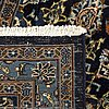 An old kashan carpet c 375 x 295 cm.