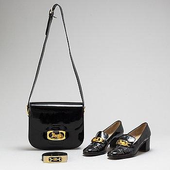 CÉLINE, set bestående av väska, bälte samt skor.