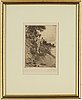 Anders zorn, etching, 1912, signed in pencil.