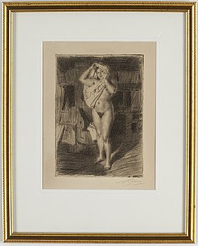 ANDERS ZORN, etching, 1914, signed in pencil.