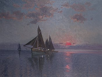 CARL BRANDT, oil on canvas, signed and dated 1918.