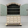A swedish rococo cupboard, second half of the 18th century
