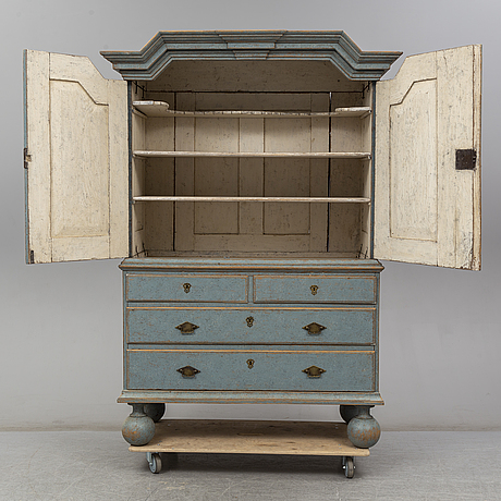 An 18th century baroque cupboard.