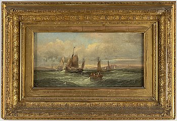WILLIAM THORNLEY (THORNBERRY), olja på duk, signerad.