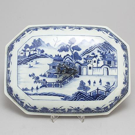 Lock till terrin, kompaniporslin. qingdynastin, qianlong (1736 95)