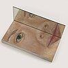 Peter ojstersek, objekt, bemålat trä, spegel, signerad och daterad 1997.