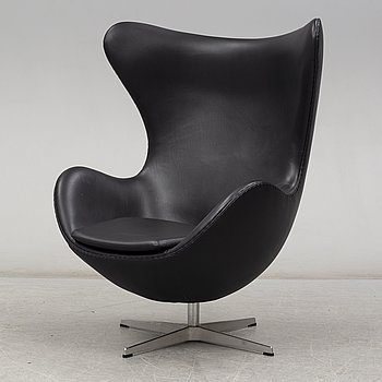 ARNE JACOBSEN, an 'Egg chair' easy chair, designed for Fritz Hansen, Denmark.