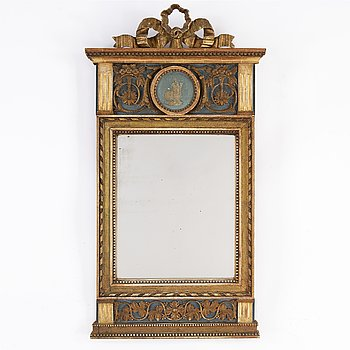 A Swedish late gustavian mirror, ca 1800.