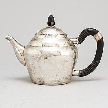 GEORG JENSEN, a model 28 silver coffee pot from Copenhagen, Denmark.