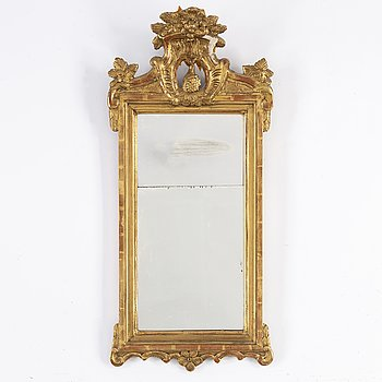 A late 18th century Gustavian mirror.