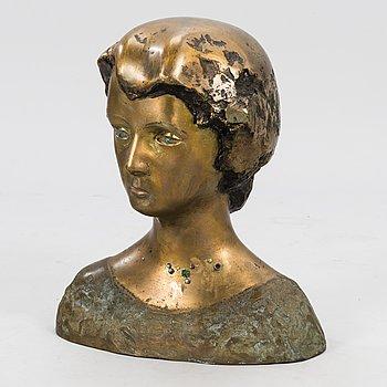ESSI RENVALL, sculpture, bronze and mixed media, signed.