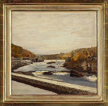 OLOF KRUMLINDE, oil on canvas, signed and dated -92.