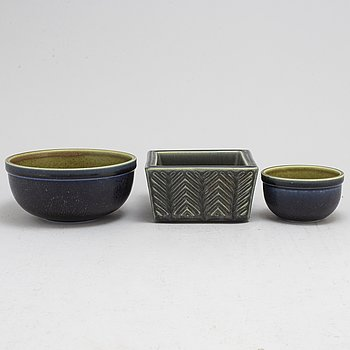 KÅGE VERKSTAD, a set of three stoneware bowls from the 1950's.