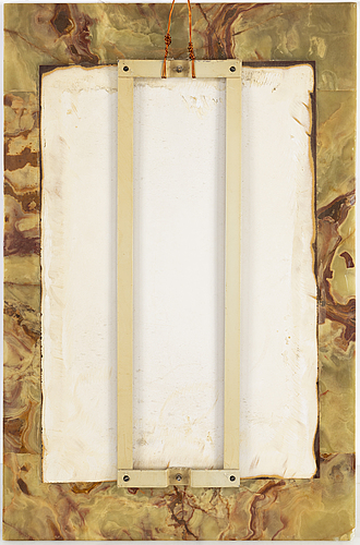 An onyx mirror, second half of the 20th century