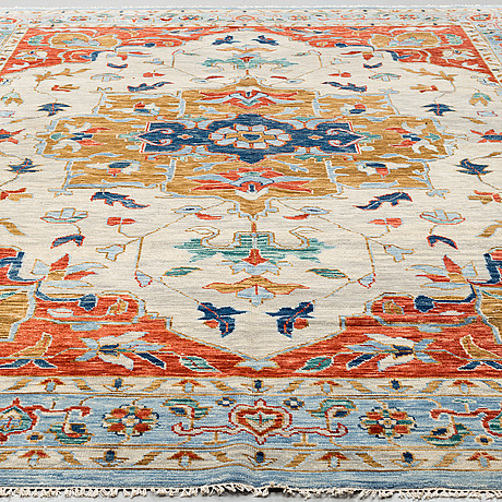A carpet, oriental, ca 427 x 301 cm.