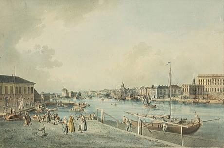Johan fredrik martin, etching, signed