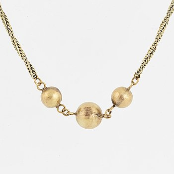 14K gold necklace.