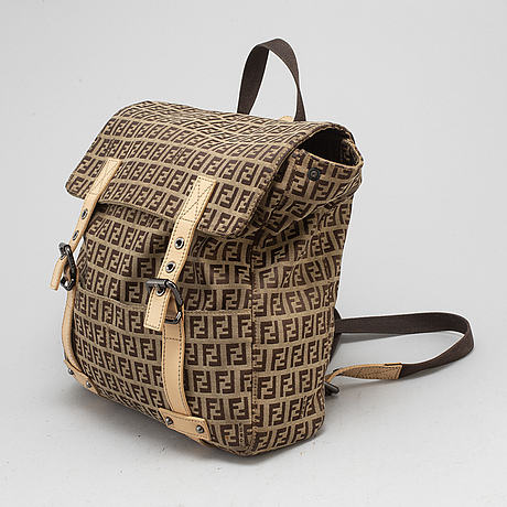 Fendi, a monogram backpack.