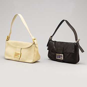 two fendi leather bags.