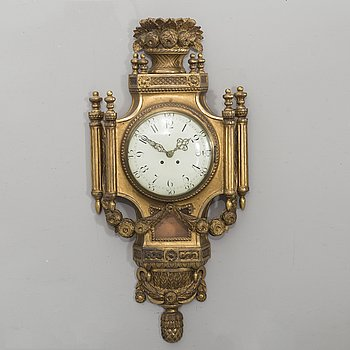 A late Gustavian style wall clock 20th century.