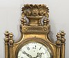 A late gustavian style wall clock 20th century