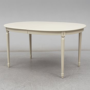A second half of the 20th century Gustavian style dining table.