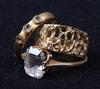 Parti smycken, 6 stycken, guld o stenar. tot vikt ca 24 gram.