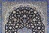 A carpet, old isfahan part silk, 374 x 270 cm.