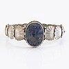 Armring, silver, lapis lazuli. tillander, helsingfors, 1938.