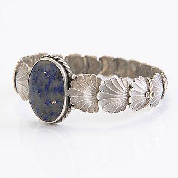 A 1938 silver bracelet by Tillander, Helsinki.