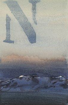 LARS LERIN, akvarell, signerad Lars Lerin med blyerts.