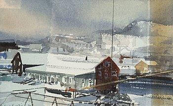 LARS LERIN, akvarell, signerad Lars Lerin och daterad 94 med blyerts.