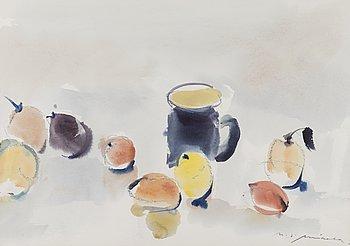 NANDOR MIKOLA, akvarell, signerad.