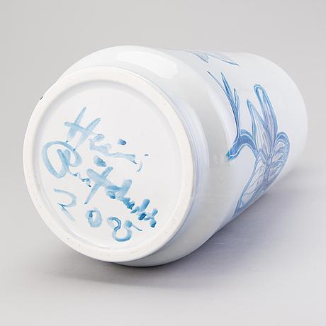 Heini riitahuhta, an 'anemone', porcelain vase signed heini riitahuhta 2005.