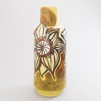 """HEINI RIITAHUHTA, vas, porslin, """"Copper flower"""", signerad Heini Riitahuhta 2006."""