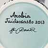 Heini riitahuhta, a porcelain vase/candlestick, pro arte 4/10 2013, signed heini riitahuhta.