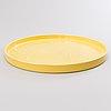 Heini riitahuhta, a 'yellow tulip' porcelain dish signed heini riitahuhta 2003.