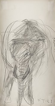 KAIN TAPPER, drawing, signed and dated -82.