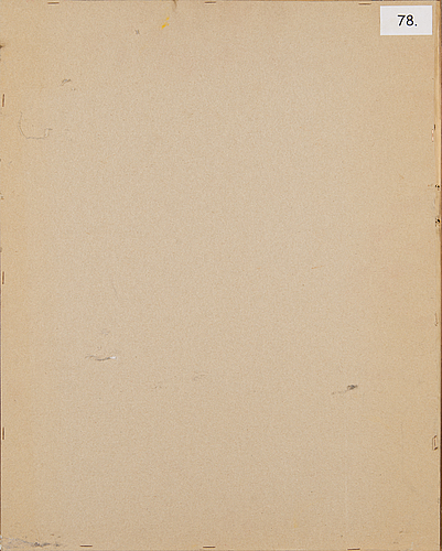 Kain tapper, piirustus, signeerattu ja päivätty -78.