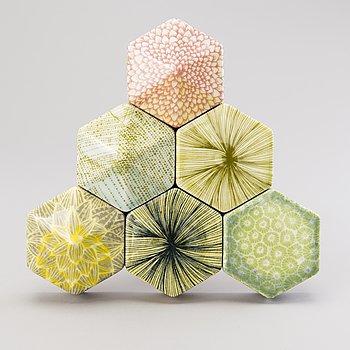 HEINI RIITAHUHTA, a porcelain 'Hexagon relief' signed Heini Riitahuhta 2015.