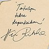 Heini riitahuhta, a 2012 porcelain hexagonrelief, signed heini riitahuhta.