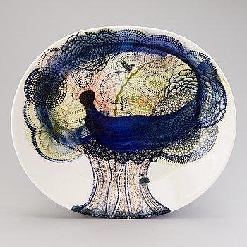 HEINI RIITAHUHTA, a porcelain dish 'Tree of Life', signed Heini Riitahuhta 2010.