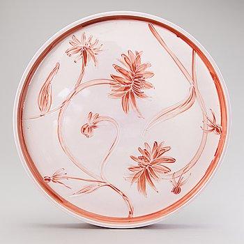 HEINI RIITAHUHTA a porcelain dish, 'Pink dahlia', signed Heini Riitahuhta.