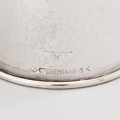 Tapio wirkkala, candelabrum tw 202 and a bowl in silver (916), kultakeskus, hämeenlinna 1962 ja 1966