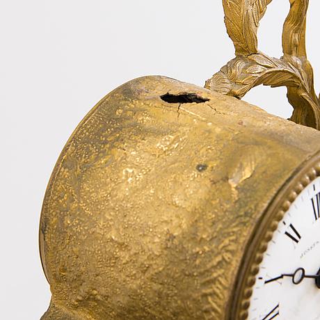 A mantel clock, brunfaut, france and josefh leja stockholm