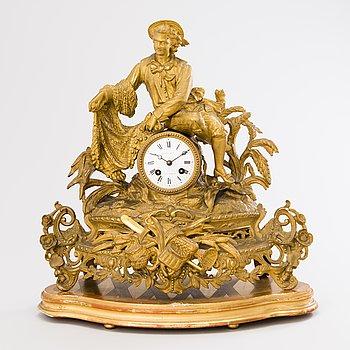 A mantel clock, Brunfaut, France and Josefh Leja Stockholm.