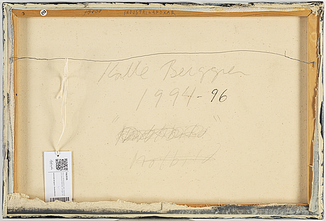 Kalle berggren, canvas, signed and dated 1994-96 on verso.