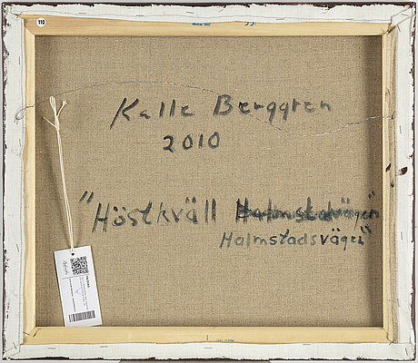 Kalle berggren, canvas, signed and dated 2010 on verso.