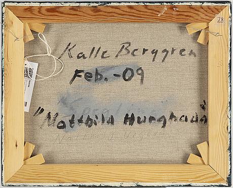 Kalle berggren, duk, signerad och daterad  09 a tergo